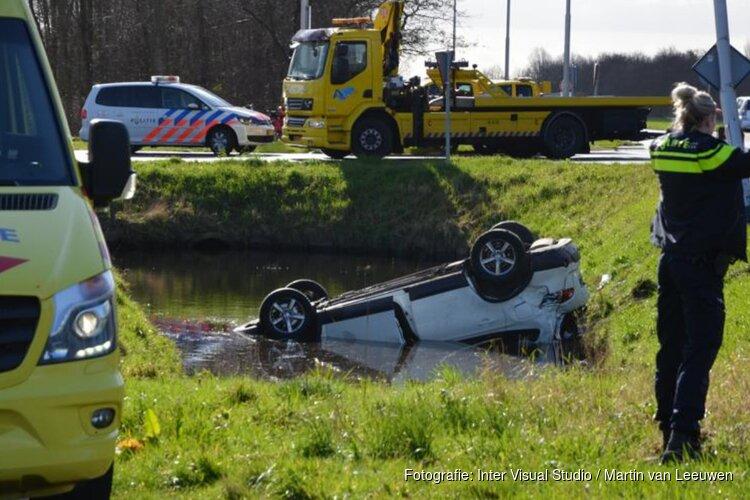 Auto te water in Castricum