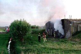 Brand in bunker Uitgeest onder controle