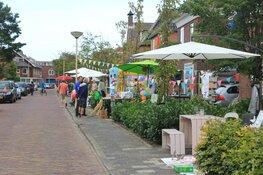 De Henri Schuytstraat in Castricum viert Burendag met een rommelmarkt.