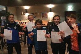 Nieuwe gediplomeerde pupillenscheidsrechters bij FC Castricum