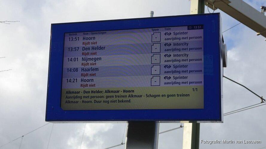 Treinverkeer gestremd Alkmaar-Den Helder; Alkmaar-Hoorn