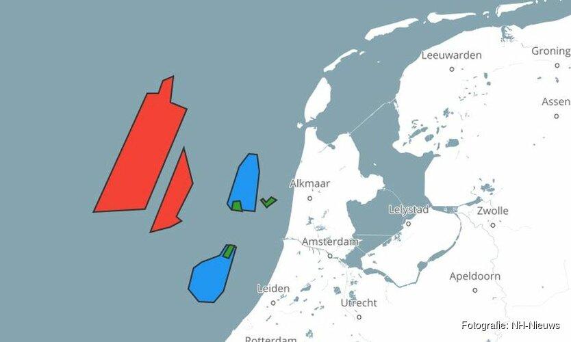 Regering wil giga-windmolenparken op zee langs vrijwel gehele kust Noord-Holland