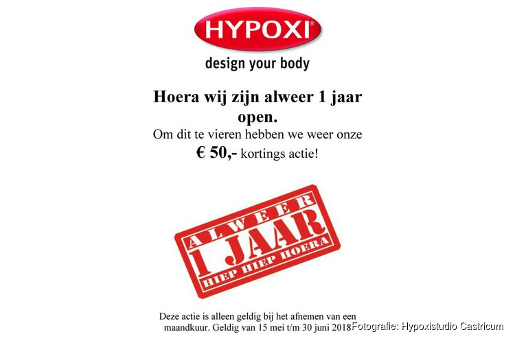 Hypoxistudio Castricum bestaat 1 jaar!