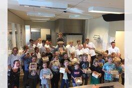 Leerlingen van basisschool De Wijde Veert maken heerlijke taarten met leerlingen van het Van der Meij College!
