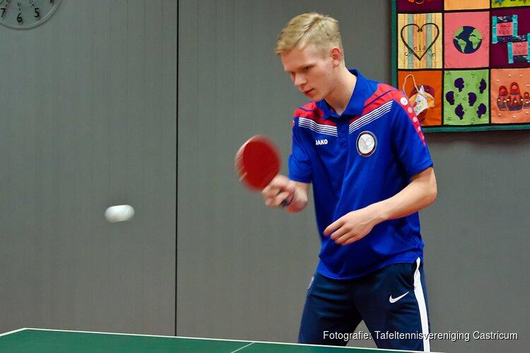 5 Teams in actie  bij tafeltennisvereniging Castricum