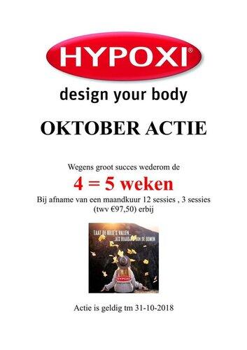 Oktober actie Hypoxi studio