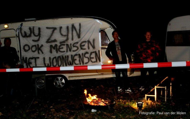 Woonwagenprotest Alkmaar en Heerhugowaard vandaag verder