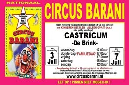 Nationaal Familie Circus Barani komt naar Castricum