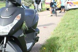 Scooterrijdster gewond op N203
