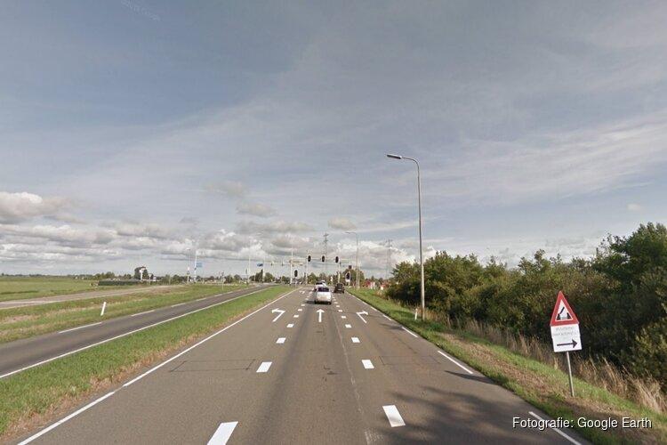 Deel N244 bij Alkmaar hele herfstvakantie afgesloten vanwege vervanging asfalt