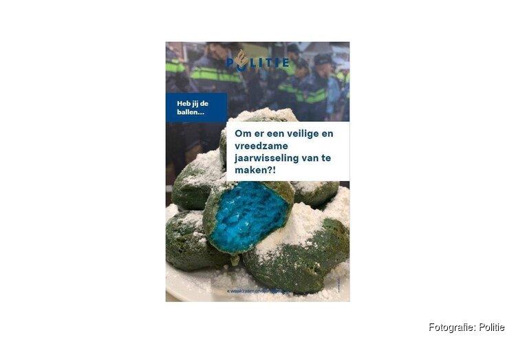 Politie Alkmaar-Duinstreek trakteert op blauwe oliebollen